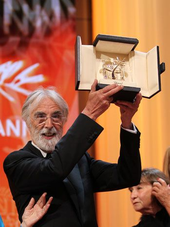 Austrian director Michael Haneke makes it two in a row, winning his second Palme d'Or for Amour