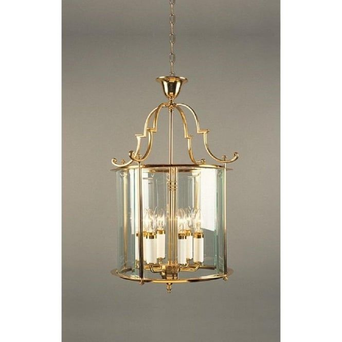 Details about Polished Brass Large Chain Hanging Glass Chandelier Cage 4 Candle Lights