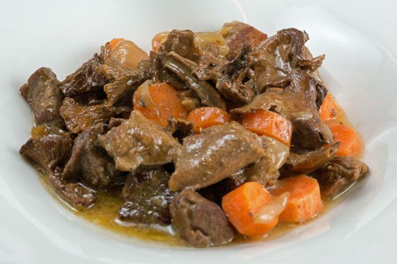A dish of game stew