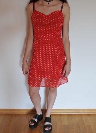 Kup mój przedmiot na #vintedpl http://www.vinted.pl/damska-odziez/krotkie-sukienki/9962318-czerwona-sukienka-w-groszki