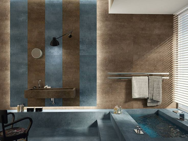 Lavabi e piatti doccia in gres porcellanato, personalizzati, rivestimento e pavimento uguale all'arredo