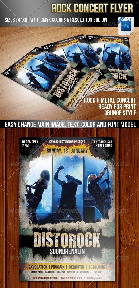 Rock #Concert - Concerts Events.Download here: http://graphicriver.net/item/rock-concert/3585475?ref=arroganttype