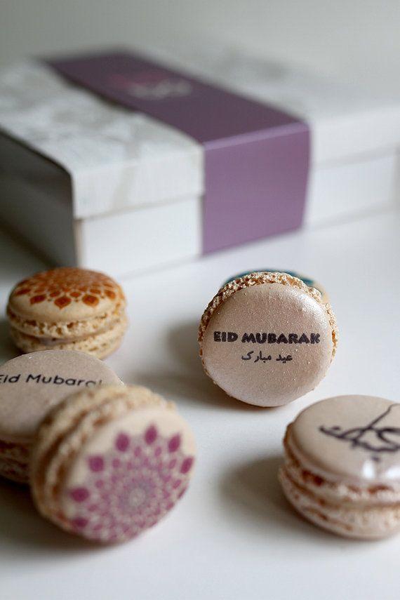 yummy EID TREATS ...  Baraka mini macaron box for Eid/ Eid macarons/ Eid Mubarak/ Eid macaroons/ Eid