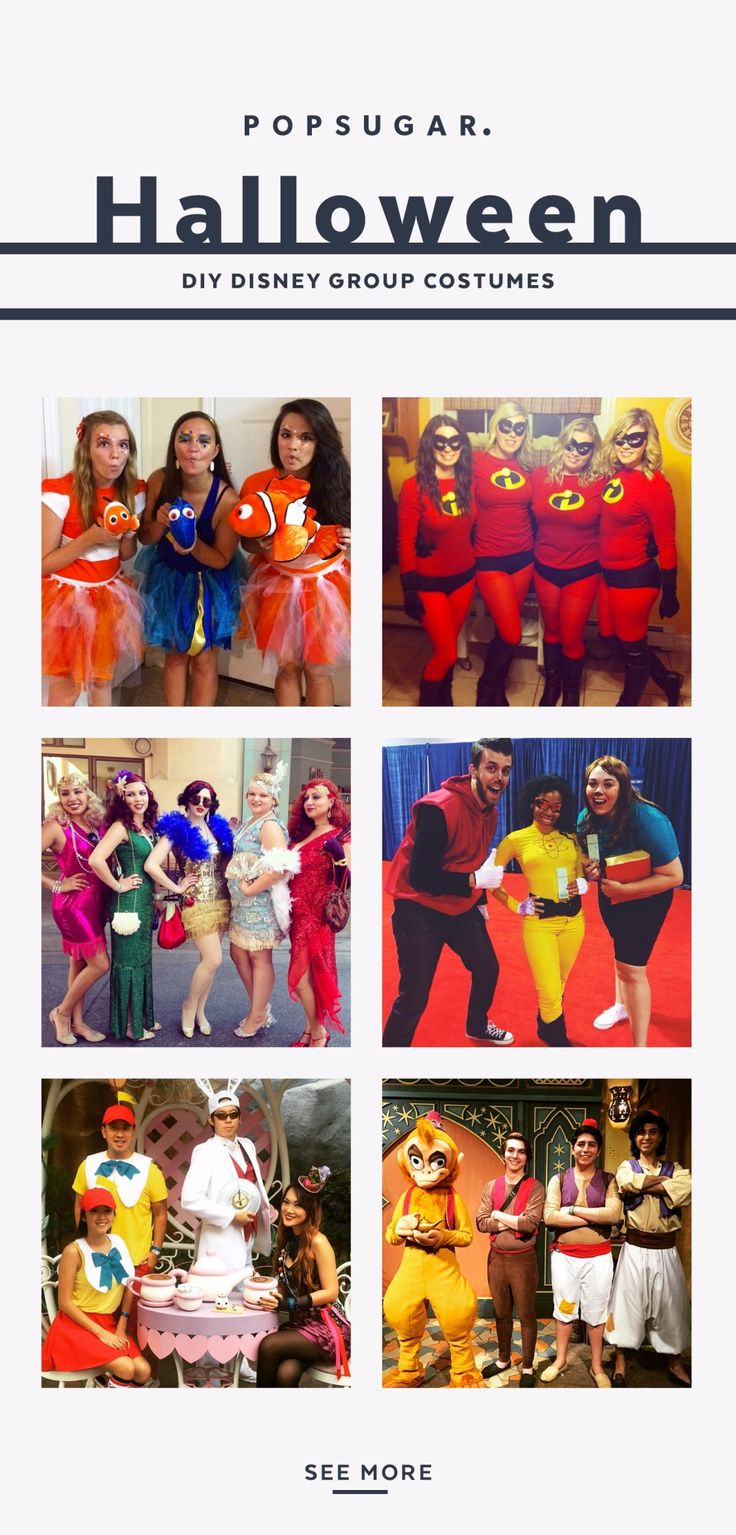 If you love Disney, you'll be obsessed with these super easy DIY Disney costumes that you can dress in with a group of friends.