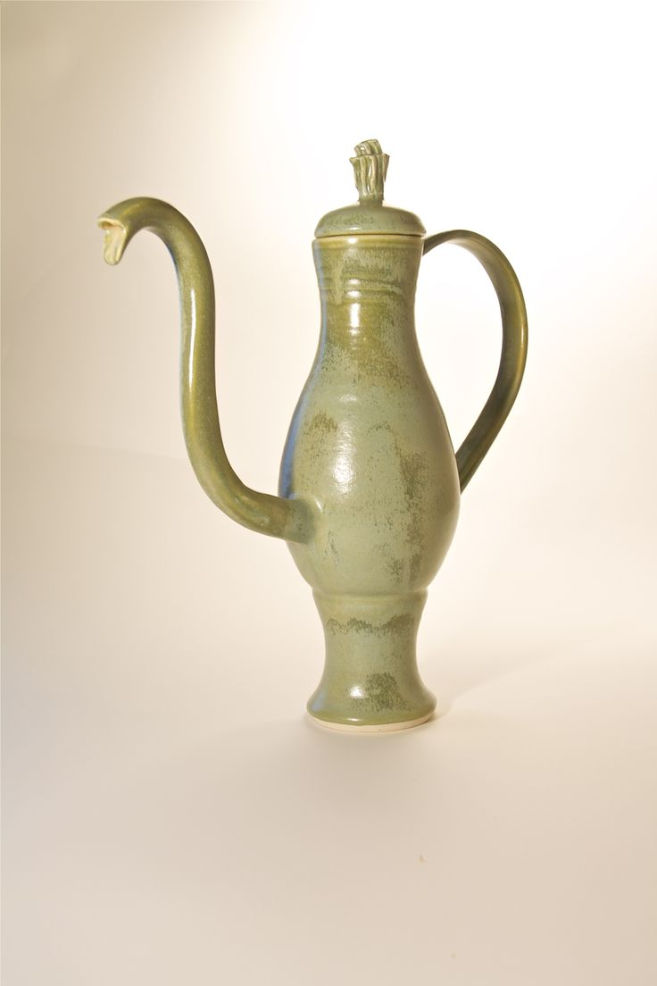Green Mediterranean style Teapot