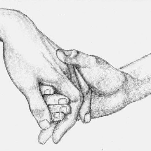 Holding hands.  Forget the past.  Focus on the future.