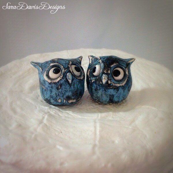 Owl Wedding Cake Topper, Owl Cake Topper, Owl Wedding, Rustic Wedding Cake Topper, Animal Cake Topper, Bird Cake Topper, Rustic Wedding by SaraDavisDesigns on Etsy https://www.etsy.com/listing/228420069/owl-wedding-cake-topper-owl-cake-topper