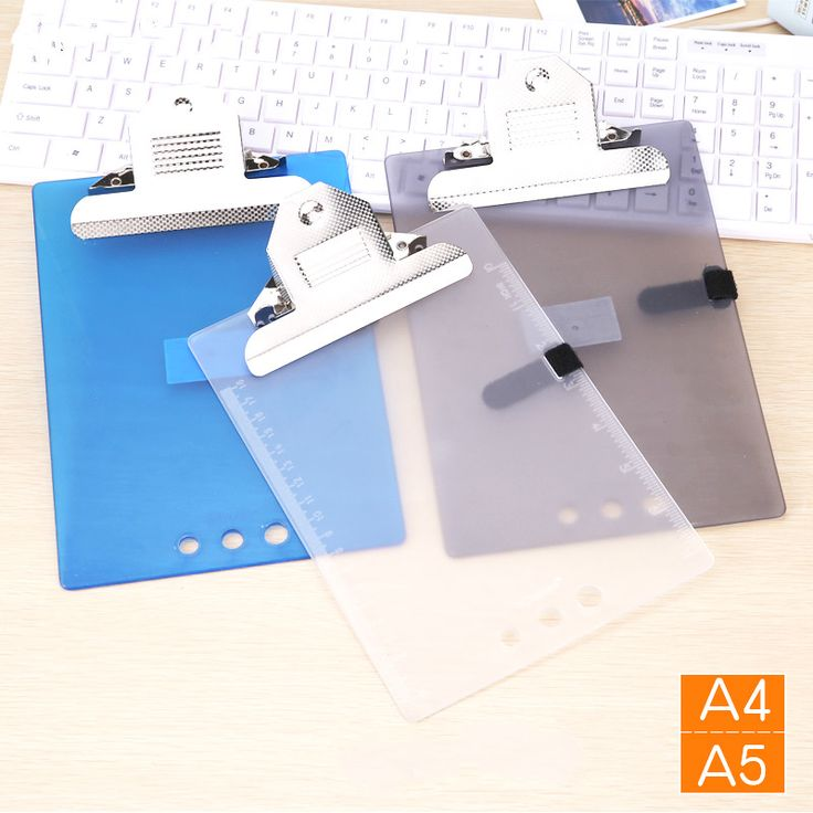 2pcs/lot plastic clip board clip file A4/ A5 folder plate pad metal bill clip report cover spine bar office stationery supplies