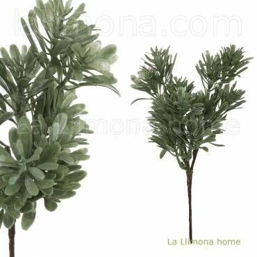 Pick hierbas silvestres artificiales verde oscuro