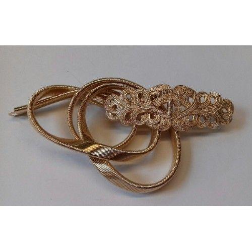 cinturón brocado dorado | Suen-Vestidos de fiesta