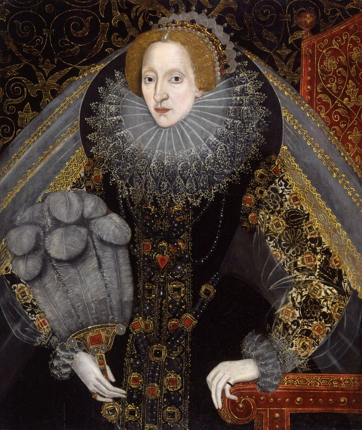 Another wonderful portrait of Elizabeth I showing her taste for elaborate outfits. What a trendsetter1 renaissance medieval middle ages sca larp jewelry ruff