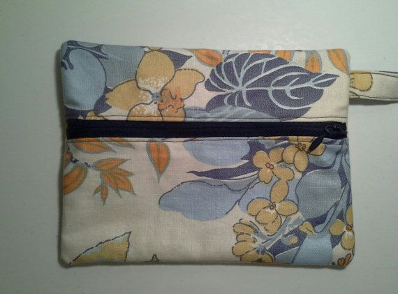 Floral Print Wristlet with Zipper by NikiStix on Etsy, $8.00