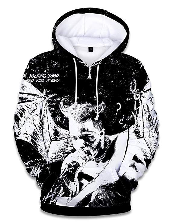 f24faabbe08 SIMYJOY ENJOY THE SIMPLICITY SIMYJOY Unisex RIP Xxxtentacion Hoodie 3D  Print Street Rap Sweatshirt Cool Hip Hop Pullover