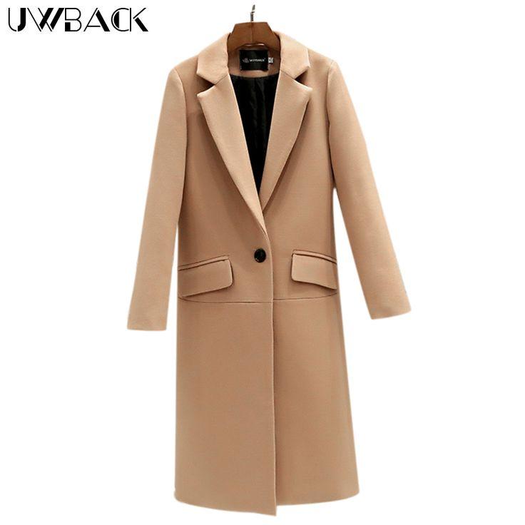 US $25.64 - 26.59 -- Uwback 2017 Spring Brand Trench Coat Women Long Straight Cloak Femme Casual Windbreaker Wool Coats Mujer Plus Size 2XL OB308 aliexpress.com