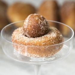 Brioche doughnuts or brioche beignets are fried, light and airy and definitely worth the work! You will be very impressed with the results. The dough is very easy to make and the process is simple to follow. They make a perfect