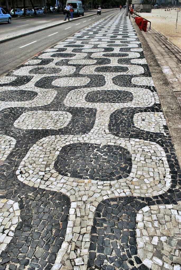 Ipanema Sidewalk Rio Apr 2010 Am rica Central Sud