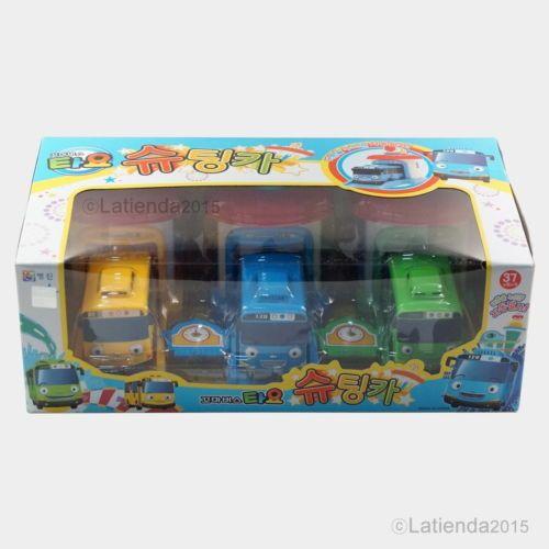 Rani-Rogi-Tayo-The-Little-Bus-Shooting-Car-3pcs-Set-Korea-Animation-Garage-Toy