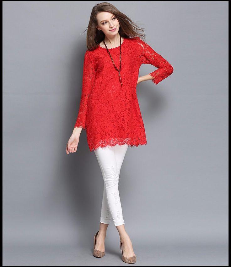 Las mujeres Blusa de Encaje Blusa de Renda Manga Longa Plus Size Tops de Encaje Túnica xl 4xl en Blusas y Camisas de Ropa y Accesorios de las mujeres en AliExpress.com | Alibaba Group                                                                                                                                                                                 Más