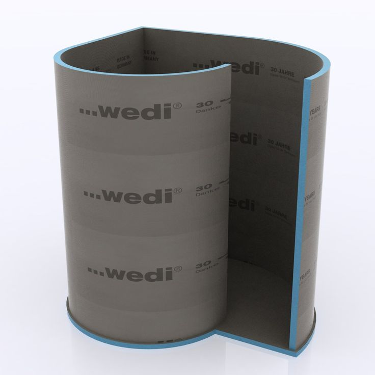 Bad Zur Aufnahme der 5 cm starken Wandelemente aus Wedi®-Bauplatten ist eine Nute in das Bodenelement eingefräst. Die Dusche ist perfekt geeignet für die Aufnahme von Fliesen, Putz oder PVC. Hochwertiges ebenerdiges Bodenelement aus...