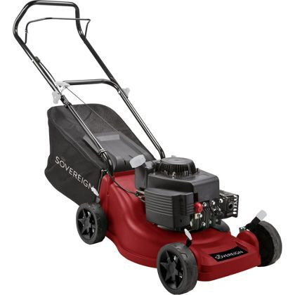 Sovereign 150cc Push Petrol Rotary Lawn Mower - 40cm