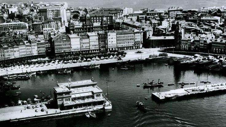 La Dársena y Puerta Real - Fotos antiguas: A Coruña