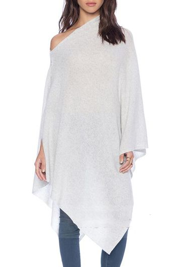 Stylish Cloak Design Knitting Wool Pullover for Autumn