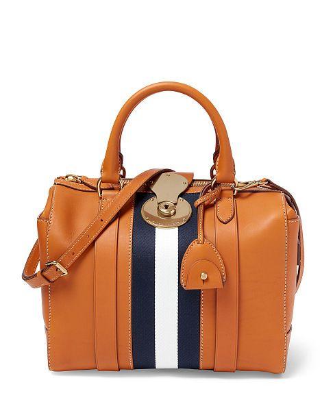 Small Calfskin Luggage Handbag - Ralph Lauren Top Handles & Satchels - RalphLauren.com