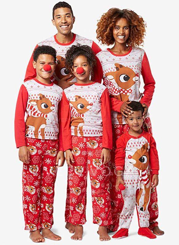 Family Christmas Pajamas 2019 Uk.Us 12 99 Deer Matching Family Christmas Pajamas