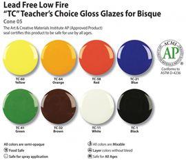 Glaze - Amaco, Duncan, Mayco, Spectrum - Amaco Glaze - Amaco Teacher's Choice (TC) Glazes