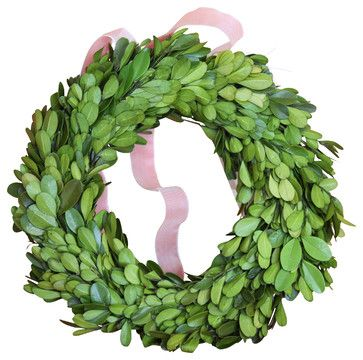 A great way to add a splash of green to any space year-round, this preserved boxwood wreath can enhance any décor with its cultivated charm!