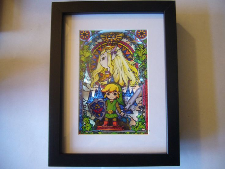 Legend of Zelda LIGHT UP Stained Glass 3D Shadow Box Diorama Art  Super Nintendo by 33Games on Etsy