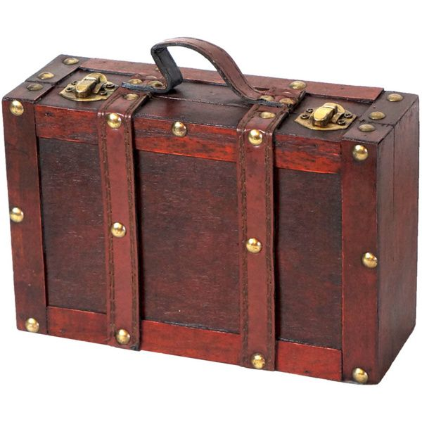 Old fashioned small suitcase with straps in 2019 old - Vintage suitcase ...