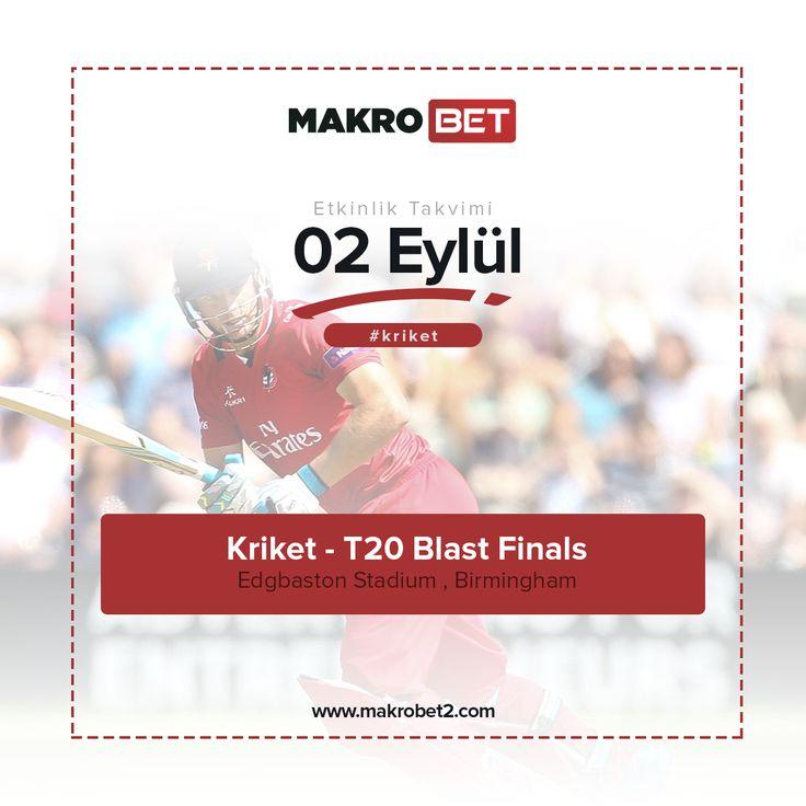 Kriket T20 Blast Finals 2017 sezonunda finale kalan 4 takımın yarışacağı #T20 #BlastFinals bugün İngiltere'nin Birmingham şehrinde başlıyor. Tarihi #Edgbaston Stadyumunda gerçekleşecek olan finaller de her takım tek mücadeleye çıkıyor. 02 – 04 Eylül tarihleri arasında gerçekleşecek olan organizasyonda bu yıl Avrupa'nın n büyüğü kim olacak. Diğer spor müsabakalarında olduğu gibi #Kriket severler için #Enyüksekbahisoranları #Makrobet'te sizlerle. http://makrobet4.com