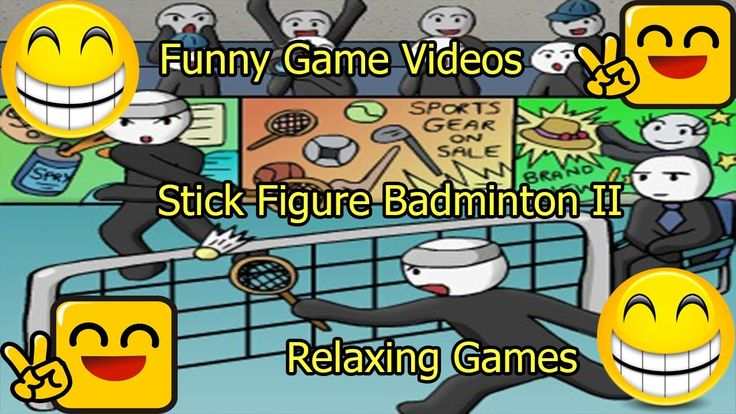 Funny Game Videos | Relaxing Games | Stick Figure Badminton II # 2