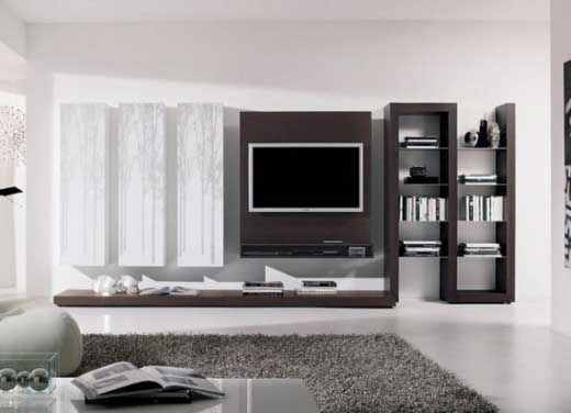 small tv room design Living room interior decoration with TV brackets