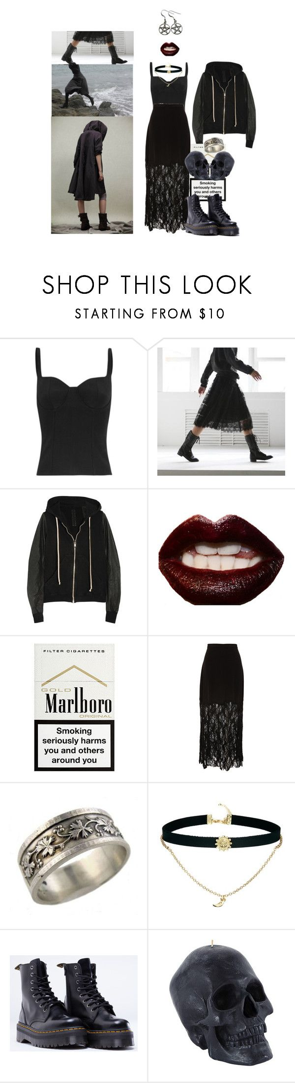 """life always disappoints me."" by deviousinstinct ❤ liked on Polyvore featuring Alexander McQueen, DRKSHDW, Nicholas K, Manic Panic NYC, Opening Ceremony, ASOS and Dr. Martens"