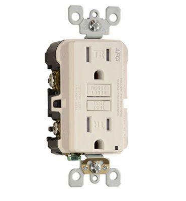 Pass & Seymour - AF15TRLA - 15 Amp - AFCI - Arc Fault Circuit Interrupter - Light Almond