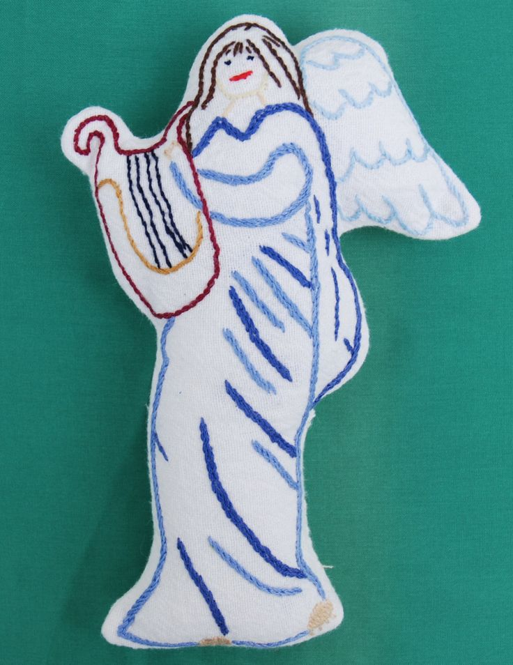 Hand embroidered Cloth Dolls Angels by FossaCreations on Etsy