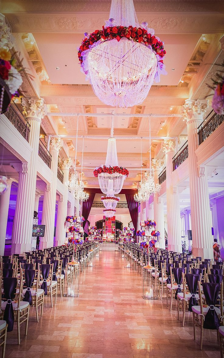 Red Purple Blue Wedding
