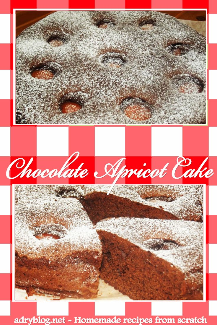 Chocolate Apricot Cake - an easy to prepare, delicious homemade cake! Learn how to bake a chocolate apricot cake from scratch! It's de-li-cious!