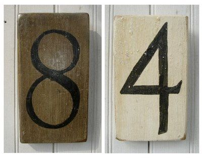 wooden digits