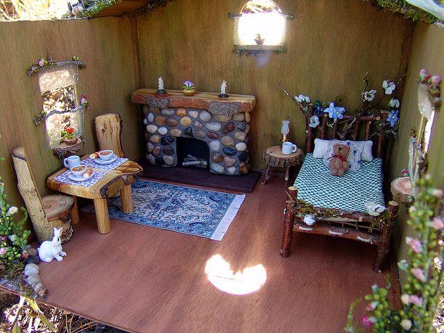 Miniature Fairy Dollhouse Furniture by Torisaur, via Flickr