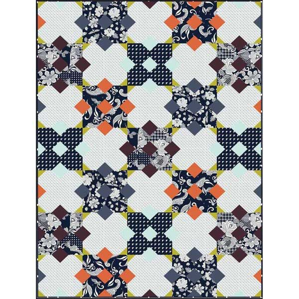 Hoffman Fabrics Simply Eclectic by Karianne Wood Simply Eclectic Quilt Kit 50 x 70 | Precuts