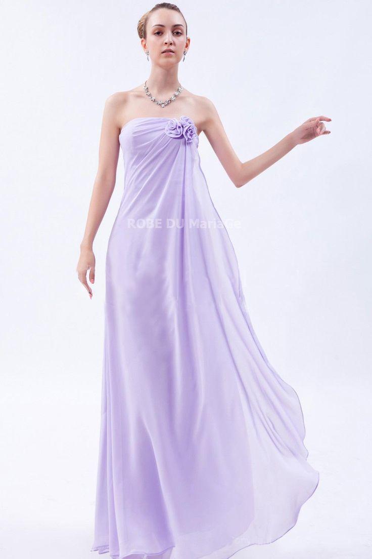 Shopping Noël : jusqu'à -40% robe de soirée grossesse sans bretelle charmante robe de soirée pas cher Prix : €85,99 Lien pour cette robe :  http://www.robedumariage.com/robe-de-soiree-grossesse-chiffon-sans-bretelle-fleurs-product-4325.html