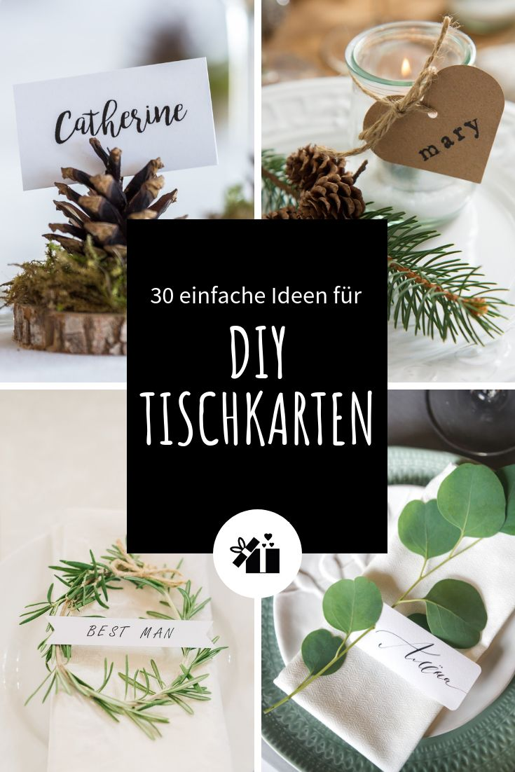 30 einfache Ideen für DIY-Tischkarten – mena sev