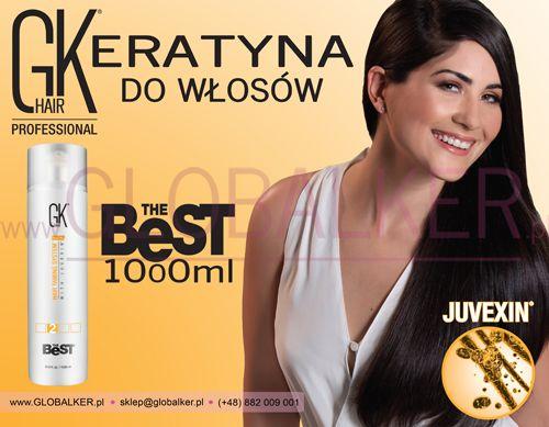 Keratyna do włosów GK Hair The Best 1000ml. Global Keratin Juvexin Warszawa Sklep #no.1 #globalker http://globalker.pl/keratyna-do-zabiegow/79-gk-hair-keratyna-the-best-1000ml-global-keratin.html