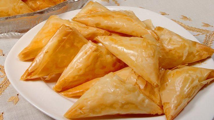 Greek Triangle Cheese Puffs (Tiropites)