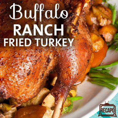 Rachael Ray: Buffalo Ranch Fried Turkey Recipe + Indoor Turkey Fryer