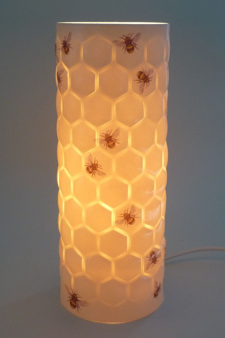 Honeycomb lamp by Meryl Till