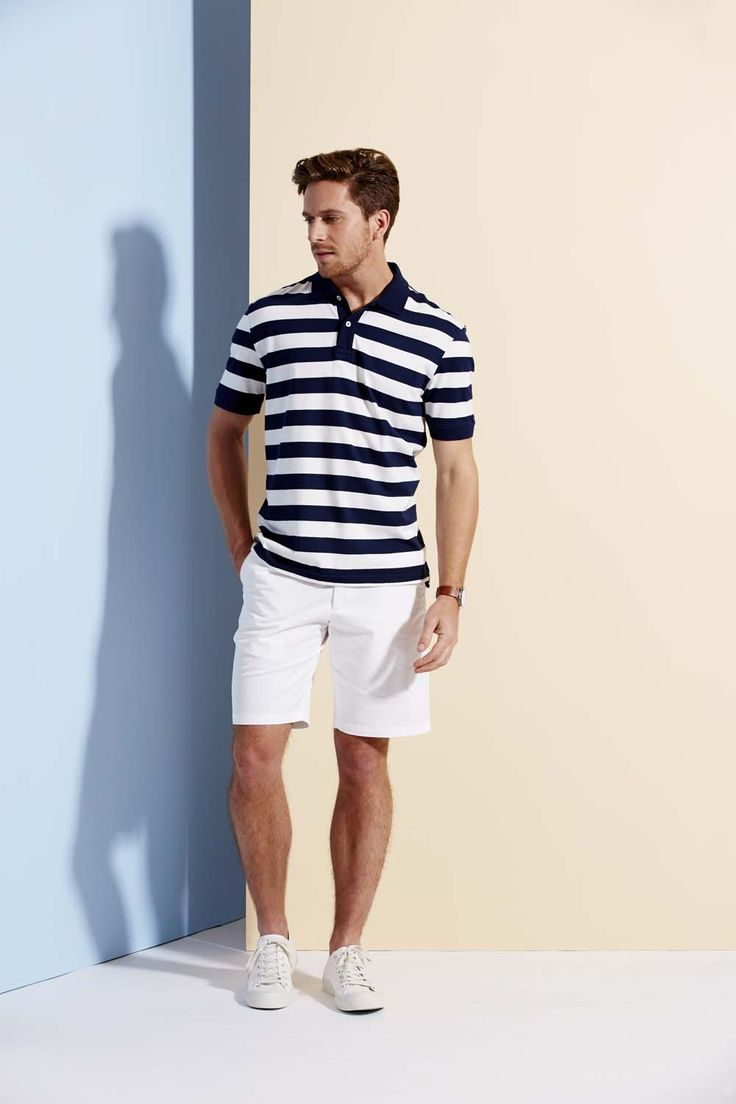 Aptly named, this Portsea jersey polo can bring a nautical edge to your weekend wardrobe. Made from pure cotton, it features a jersey knit fabrication with a navy and white stripe.  Perfect for summer days and nights.